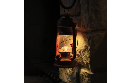 NEBO Old Red LED Lantern w/ Realistic Flicker Flame - 100 Lumens - #6642