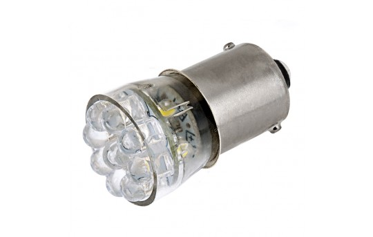 67 LED Boat and RV Light Bulb - 15 LED Forward Firing Cluster - BA15S Retrofit - 105 Lumens - 67-x15-RVB