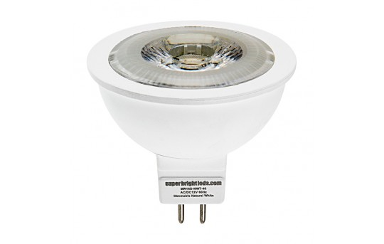 MR16 LED Bulb - 60 Watt Equivalent - 12V AC/DC - Bi-Pin LED Spotlight Bulb - 685 Lumens - MR16D-x7-40-HH