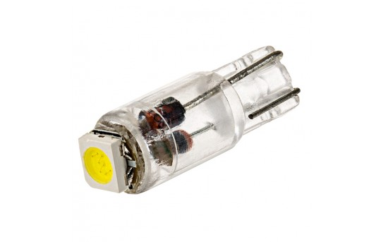 74 LED Bulb - 1 SMD LED - Miniature Wedge Base - 74-xHP-CAR