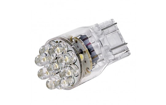 7443 LED Bulb - Dual Function 15 LED Forward Firing Cluster - Wedge Retrofit - 7443-x15-CAR