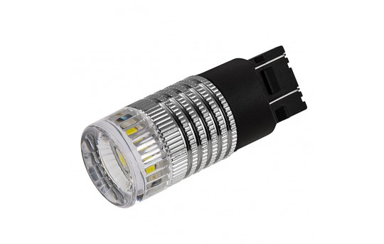 7443 LED Bulb w/ Reflector Lens - Dual Function 1 High Power LED - Wedge Base - 7443-x3W-CAR