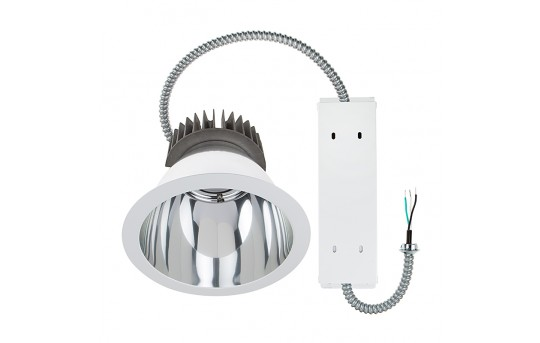 "Commercial LED Downlight Retrofit for 8"" Cans - Recessed Light w/ Reflector Trim - 280 Watt Equivalent - 2,800 Lumens - DCL8D-x40"