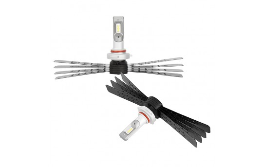 LED Headlight Kit - 9005 LED Headlight Conversion Kit with Aluminum Finned Heat Sinks - 9005-HLV6