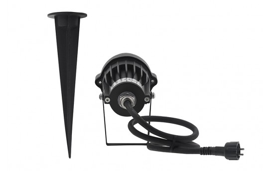 5 Watt Landscape LED Spotlight w/ Mounting Spike - 25 Watt Equivalent - 250 Lumens - GLUX-x5W-S90