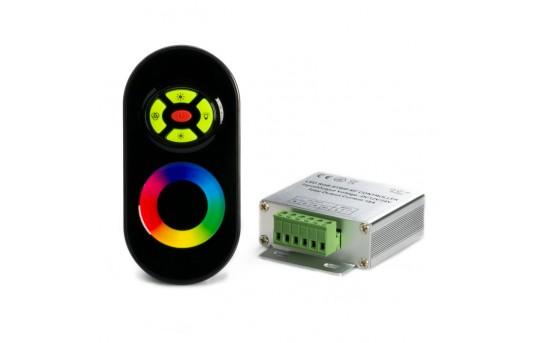RGB LED Controller w/ Syncable RF Touch Color Remote - Dynamic Color-Changing Modes - 6 Amps/Channel - LDRF-RGB6-TC2