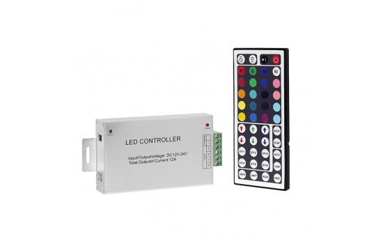 RGB LED Controller with Wireless IR Remote - Dynamic Color-Changing Modes - 3 Amps/Channel - LDIR-RGB3