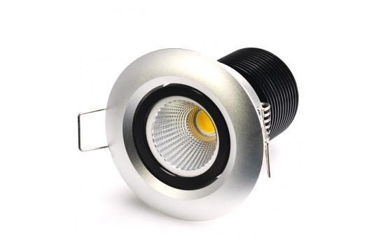 8 Watt COB LED Aimable Recessed Light Fixture - Bridgelux COB - RLFA-x8-80