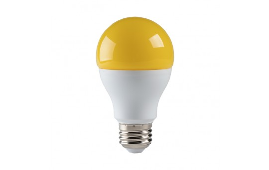 LED Bug Light Bulb - A19 - Yellow - 75 Watt Equivalent - 720 Lumens - A19-BL9