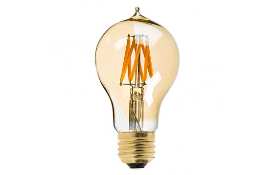 A19 LED Bulb - Gold Tint Victorian Style LED Filament Bulb - 40 Watt Equivalent - Dimmable - 470 Lumens - A19D-x7GF