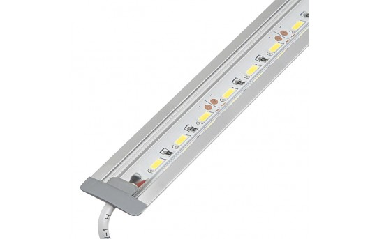 Linear LED Light Bar Fixture w/ DC Barrel Connectors - Flush Mount - 1,440 Lumens - ALB-xW1M-FM