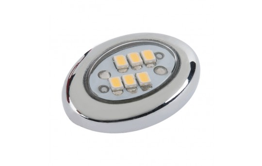 Miniature Oval LED Accent Light - Chrome - 20 Lumens - AM-OC-x6