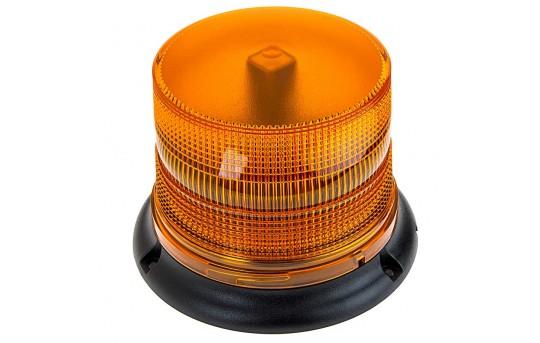 "SAE Class 1 LED Strobe Beacon - 4-3/4"" Amber LED Multi Mode Strobe Light Beacon - STBM-1A65"