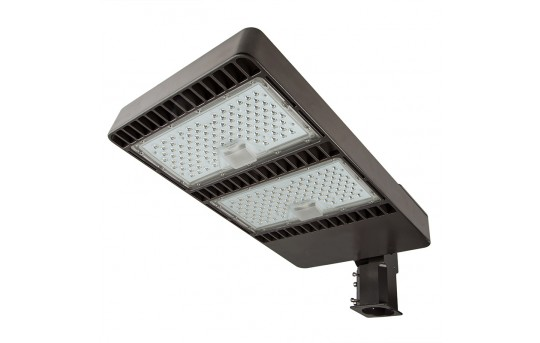 LED Parking Lot Light - 400W (2,000W HID Equivalent) 200-480V Dimmable LED Shoebox Area Light - 5000K - 60,000 Lumens - APLD-x400-2048