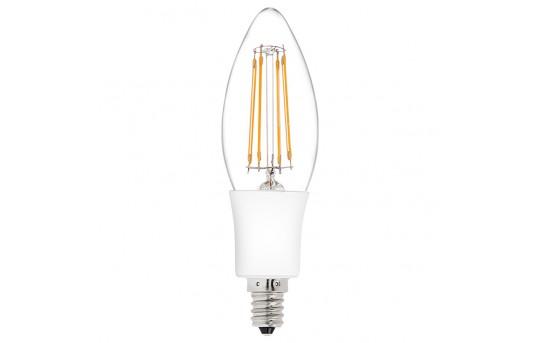 B10 LED Filament Bulb - 35 Watt Equivalent Candelabra LED Bulb w/ Blunt Tip - B10-x4DF-E12