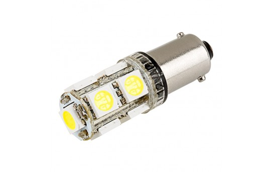 BA9s LED Bulb - 9 SMD LED Tower - BA9s Retrofit - BA9s-xHP9-CAR