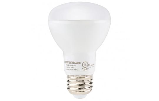 R20 LED Bulb - 6 Watt - Dimmable LED Flood Light Bulb - 60 Watt Equivalent - 640 Lumens - BR20D-x6-120