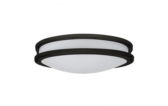 "16"" Flush Mount LED Ceiling Light w/ Brushed Nickel or Oil Rubbed Bronze Housing - 100 Watt Equivalent - Dimmable - 1,600 Lumens - CLD16-x23x"