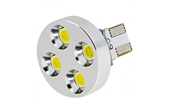 921 Emergency Lighting LED Bulb - 4 SMD LED Miniature Wedge Base Bulb - Cool White - WLEDB-CWHP4-D-6V