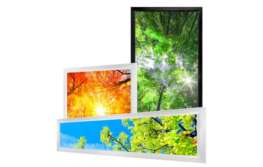 Custom Printed LED Light Box Panels - Dimmable - Even-Glow® Light Fixture - for Drop Ceilings - EGD-CP-xJBK