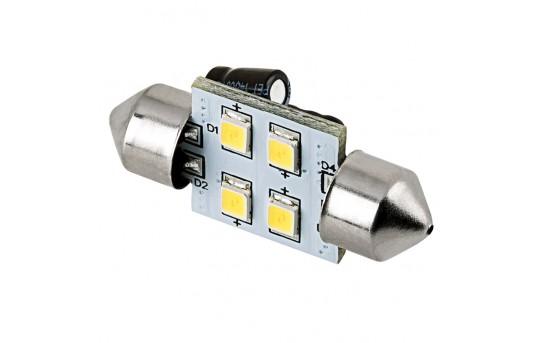 DE3175 LED Boat and RV Light Bulb - 4 SMD LED Festoon - 30mm - 62 Lumens - 3022-xHP4-V2-RVB