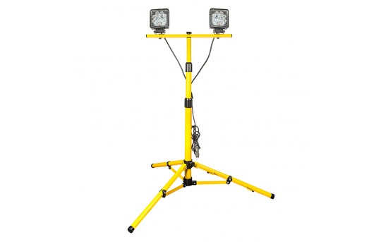 Dual Head Portable LED Work Lights with Tripod Stand - 3,600 Lumens - WLT2-27X2-590