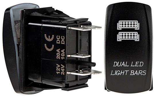 Weatherproof LED Rocker Switch - Dual LED Light Bars Switch - RS-5