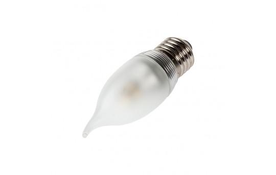 CA10 LED Decorative Light Bulb - 25 Watt Equivalent LED Chandelier Bulb w/ Bent Tip - Dimmable - 240 Lumens - E27-x3W-DF