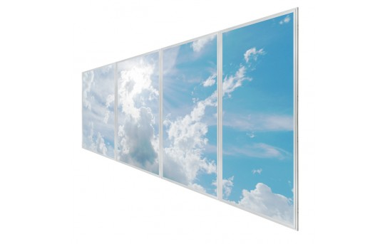 Multi LED Panel Light Display w/ SkyLenses® - Even-Glow® LED Panels - Drop Ceiling Recessed Mount - EG-Cx-Mx