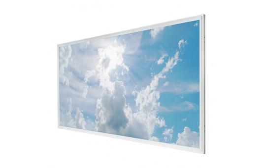 LED Skylight - 2x4 Even-Glow® LED Panel Light w/ SkyLens® - Sun Beams - Drop Ceiling Recessed Mount - EG-C1-x24