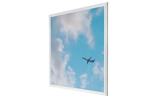 LED Skylight - 2x2 Even-Glow® LED Panel Light w/ SkyLens® - Jet Set - Drop Ceiling Recessed Mount - EG-C3-x22