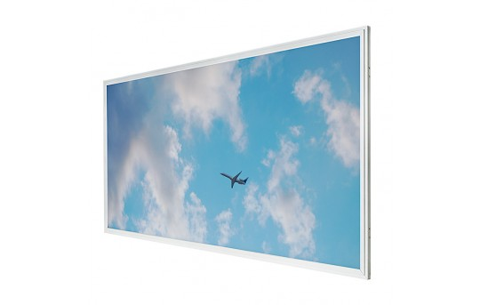 LED Skylight - 2x4 Even-Glow® LED Panel Light w/ SkyLens® - Jet Set - Drop Ceiling Recessed Mount - EG-C3-x24