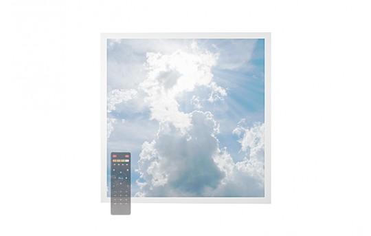 Tunable White LED Skylight w/ Sun Beams SkyLens® - 2x2 Dimmable LED Panel Light - Drop Ceiling - EGD-C1-VCT22