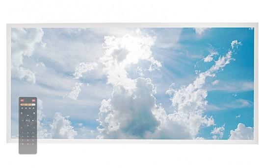 Tunable White LED Skylight w/ Sun Beams SkyLens® - 2x4 Dimmable LED Panel Light - Drop Ceiling - EGD-C1-VCT24