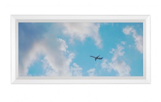 LED Skylight w/ Jet Set Skylens® - 1x2 Dimmable LED Panel Light - Flush Mount - EGD-C3-x12
