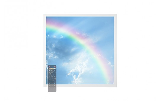 Tunable White LED Skylight w/ Rainbow SkyLens® - 2x2 Dimmable LED Panel Light - Drop Ceiling Recessed Mount - EGD-C7-VCT22