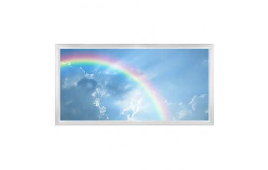 LED Skylight w/ Rainbow Skylens® - 2x4 Dimmable LED Panel Light - Flush Mount/Drop Ceiling Recessed Mount - EGD-C7-x24