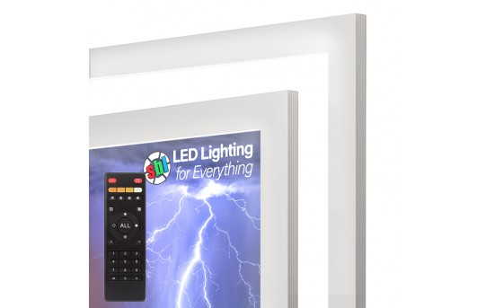 Tunable White LED Light Box Panel w/ Custom-Printed LUXART® Diffuser and Optional Remote - Ultra Thin - Dimmable - EGD-CP-VCT-SAK