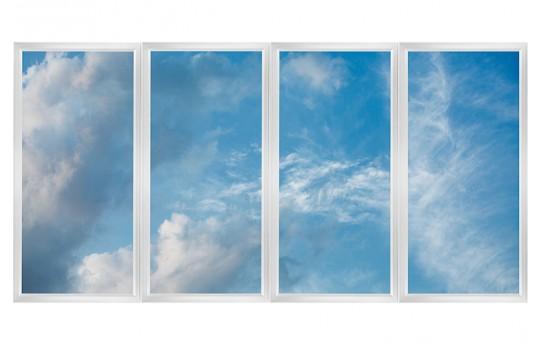 Multi LED Panel Light Display w/ SkyLenses® - 2x4 Dimmable LED Panel Lights - Flush Mount/Drop Ceiling - EGD-Cx-NW24-Mx