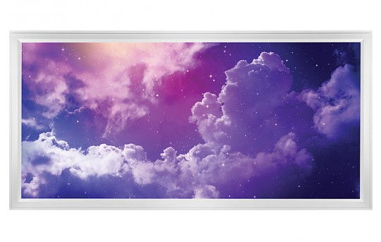 LED Skylight w/ Mystical Night  Skylens® - 2x4 - Dimmable - Flush Mount/Drop Ceiling - EGD-S2-x24