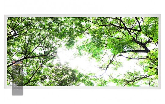 Tunable White LED Skylight w/ Forest Boughs SkyLens® - 2x4 Dimmable LED Panel Light - Drop Ceiling - EGD-T1-VCT24
