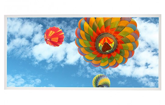 LED Skylight w/ Ballon 3 Skylens® - 2x4 Dimmable LED Panel Light - Drop Ceiling Recessed Mount - EGD2-B3-x24