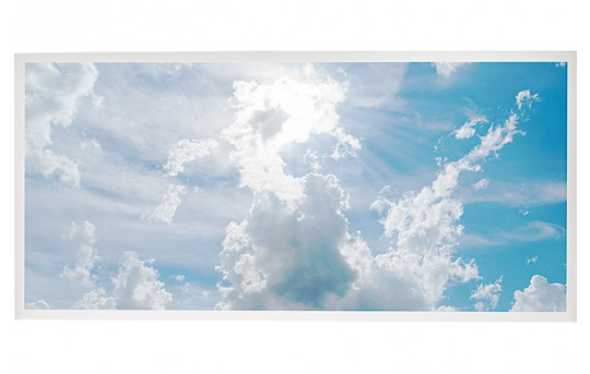 LED Skylight w/ Sun Beams Skylens® - 2x4 Dimmable LED Panel Light - Drop Ceiling Recessed Mount - EGD2-C1-x24