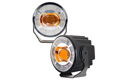 "3-1/2"" LED Projector Fog Lights Conversion Kit w/ Halo Daytime Running Lights - Universal Mount - 230 Lumens - FDC-x15W-MB3"