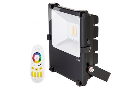 Color Changing LED Flood Lights - MiLight 50 Watt RGBW Flood Fixture w/ Wifi Remote - FL-RGBx50W