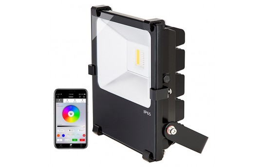 30W Color-Changing Wi-Fi LED Flood Light - RGB+White - 760 Lumens - Smartphone Compatible or w/ Optional Remote - 60W Equivalent - FL-RGBx30-x