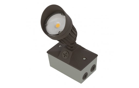 LED Landscape Flood Light w/ Junction Box - 3000K/4000K/5000K - 60 Watt Equivalent - 750 Lumens - FLKM-x10-JB