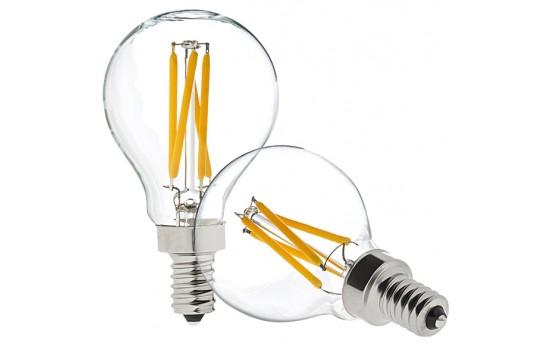 G14 LED Filament Bulb - 40 Watt Equivalent LED Candelabra Bulb - Dimmable - 370 Lumens - G14D-x4DF-E12