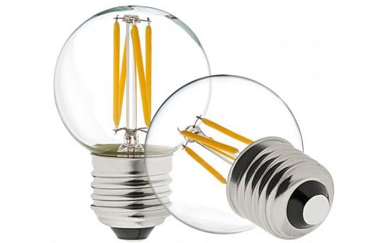 G16.5 LED Filament Bulb - 40 Watt Equivalent Globe Bulb - Dimmable - 285 Lumens - G16D-x4DF