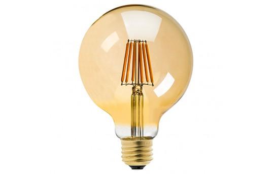 G30 LED Vanity Bulb - Gold Tint LED Filament Bulb - 25 Watt Equivalent - Dimmable - 250 Lumens - G30D-x6GF